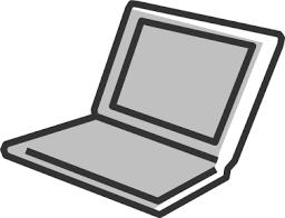 シンプルなノートpcのイラスト イラストカットcom