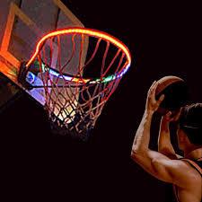 Basketball Hoop Led Light Light Up Basketball Hoop Solar Powered Led Lighted Basketball Rim Kit Waterproof Indoor Outdoor Glow Basketball Hoop Perfect For Kids Adults