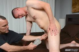 Straight Marine Gets His First Hand Job From Another Guy.