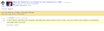"""effort r the donald is extremely homophobic shitredditsays they insult a lesbian reporter for looking """"butch"""" and """"trying to be a man"""""""