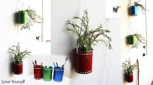 diy hanging planter using waste tin can diy tin can pen holder