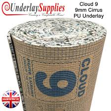 carpet underlay roll. cloud 9 cirrus 9mm pu carpet underlay per m2 roll