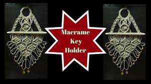 how to make macrame key stand design 2 wall piece easy and simple diy tutorial macrame art