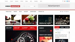 Video Website Template Enchanting Best HTML Templates For Video Tube Video Sharing And Video Portals