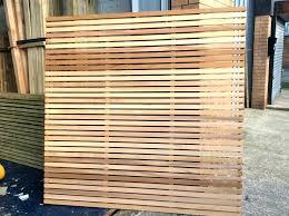 Horizontal Slatted Fence Panels Wood Slat Fence Image Of Wood Slat