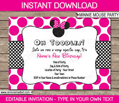 new of minnie mouse birthday invitation template free ideas
