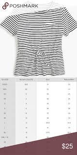 J Crew Sweater Size Chart J Crew White Tie Waist Pocket Tee J Crew White Tie Waist