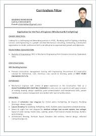 Resume For Mechanical Engg Mechanical Engineering Resume Objective Career Objective For