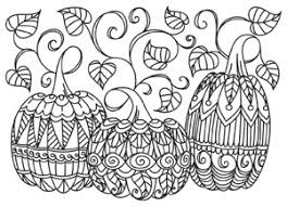 Small Picture Coloring Page World Patterned Pumpkins Free Printable Coloring