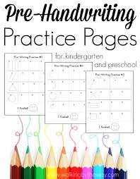 Kindergarten Writing Pages Free Pre Writing Pages For Preschool And Kindergarten Homeschool