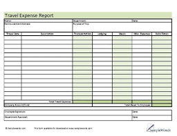Blank Expense Report Form Travel Expense Report Form Free Travel Report Template