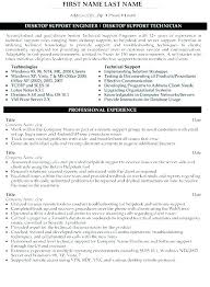 Desktop Support Resume Sample Extraordinary Resume For It Technician It Technician Resume This Is Best Desktop