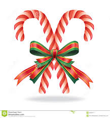 Decorative Candy Canes Christmas Decoration Candy Cane And Ribbon Stock Vector Image How 22