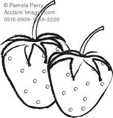 black and white strawberry clipart. Contemporary Strawberry Black And White Clip Illustration Of Strawberries Clipart  On And White Strawberry Clipart A