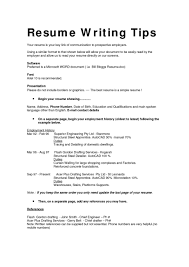 Resume Good Resume Layout Example Printable Format Examples