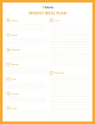 Weekly Meal Planer Kitchns Meal Plan Template Kitchn