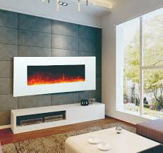 50 white wall mounted electric fireplace