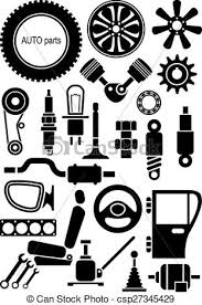 auto parts clip art.  Art Auto Parts Set Of Vector Signs To Parts Clip Art Can Stock Photo