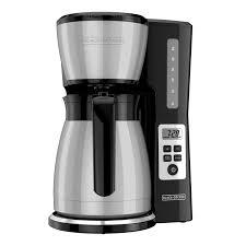 Coffee optimal brew coffee maker with thermal carafe. Black Decker 12 Cup Thermal Programmable Coffeemaker Cm2046s Silver Black Walmart Com Walmart Com