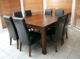 dining table round oak seats 8 square within with leaf idea 6 round dining table with