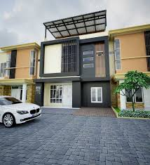 model desain tampak depan rumah minimalis 2 lantai yang mungil dan