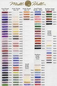 Mill Hill Beads Color Chart