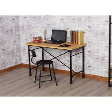 household room living bedroom minimalist wood office desktop notebook computer desk with wheels and painting work tables a56 work