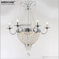 french empire crystal chandelier light fixture vintage crystal lighting wrought iron white chrome black color cream chandelier flower chandelier from
