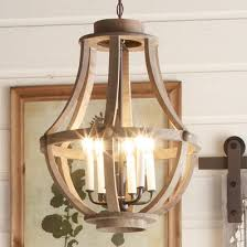 Rustic Wood Basket Lantern - Large