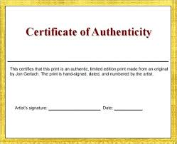Certificate Of Authenticity Template Delectable Letter Of Authenticity Template Royaleducation