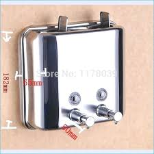 shower soap dispenser wall mounted stainless steel shampoo double best interior lotion and dispensers within shamp