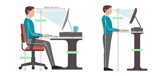 proper height for standing desks