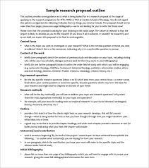 Writing A Research Paper Outline Research Paper Proposal Outline Sample
