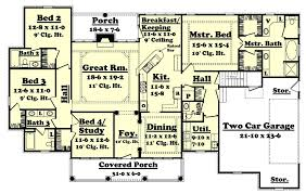lovely 2500 square foot house plans and colonial style house plan 4 beds baths sq ft