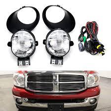 2008 Dodge Ram 1500 Fog Light Kit Clear Lens Fog Light Kit W 9145 Halogen Bulbs Bezel Covers Relay Wiring Switch For 2002 2008 Dodge Ram 1500 2003 2009 2500 3500 2004 06 Durango