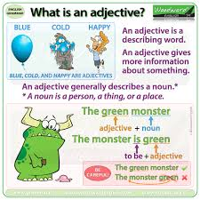 Basic English Chart What Is An Adjective Woodward English