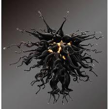 viz art glass modern classics obsidian large chandelier