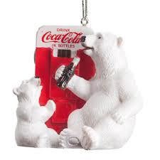 Coke Polar Bear In Bottle Vending Machine Fascinating COCACOLA POLAR BEAR Cub Ornament Christmas Tree Holiday Vending