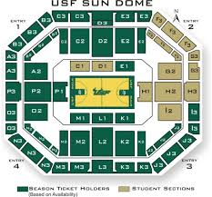Usf Sundome Seating Chart Sun Dome Seating Diagram Picture Only Usf Athletics