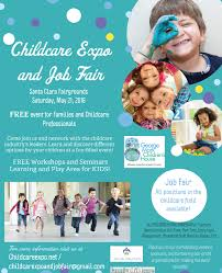 Free Childcare Advertising Free Childcare Expo And Job Fair Fun Family Event San Jose
