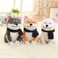 1pc wear scarf shiba inu dog plush toy soft stuffed dog toy good gifts for friend 25cm 9 84 aliexpress mobile