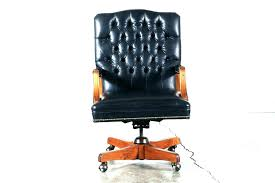 retro leather office chair desk chairs vintage style black leather tufted office chair industrial management antique