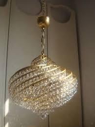 gorgeous vintage lead crystal large spiral chandelier 3 of 3