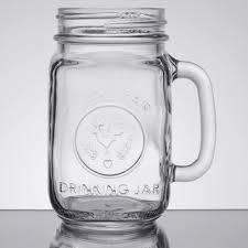 county fair mason jar drinking jar with handle 12