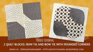 Video tutorial: 2 Bow tie quilt blocks - quick and easy quilting ... & Video tutorial: 2 Bow tie quilt blocks - quick and easy quilting Adamdwight.com