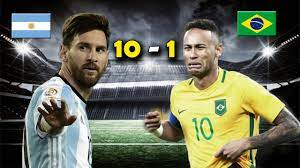ARGENTINA 10 vs BRASIL 1 - Amistoso Internacional - PARODIA - YouTube