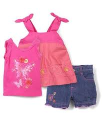Nannette Baby Clothing Size Chart Nannette Butterfly Print Top Shorts Set Pink Blue