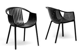 D Baxton Studio Grafton Black Plastic Stackable Modern Dining Chair Set Of 2   Home Furniture U0026 Kitchen Chairs