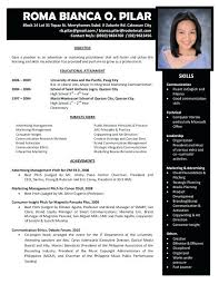 Sample Of Resume Format Formal Resume Examples Resume Examples