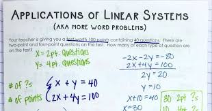 linear equations word problems inb